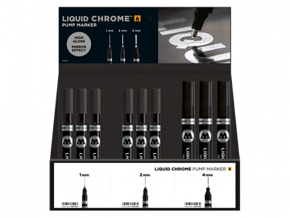 Chrommarker Liquid Chrome Display 36 Stück