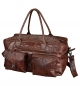 Mobile Preview: Tasche Weekender ROAD CREW Leder braun ca. 25 x 46 x 25 cm