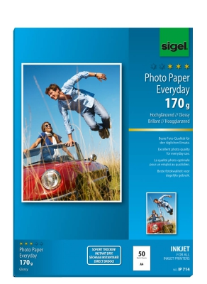 sigel IP714 Everyday - plus - Fotopapier DIN A4 - 170g/m² hochglänzend