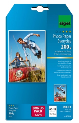 sigel IP719 Everyday - plus - Fotopapier 10,0 x 15,0 cm - 200g/m² hochglänzend